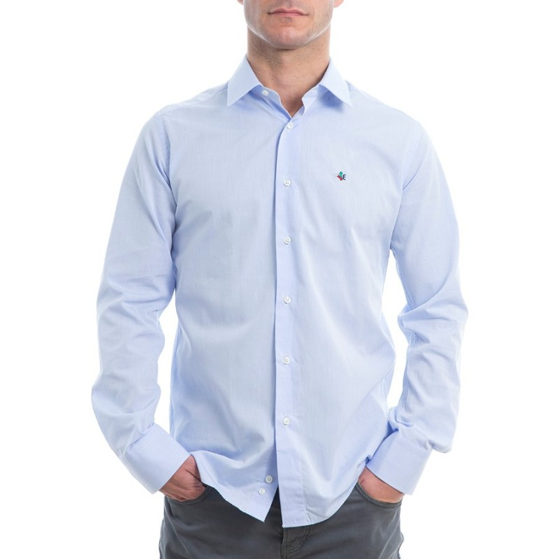 cheap for discount b313d fd2bb Camicia azzurra uomo manica lunga - Elena d'Italia